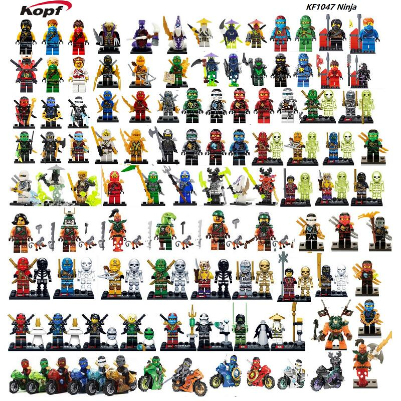 Ninja Cole Zane Samurai X NYA Jay Kai The Wei Snake Vermin Lloyd Master Wu Lady Dogshank Building Blocks Kids Gift Toys KF1047 2018 hot ninjago building blocks toys compatible legoingly ninja master wu nya mini bricks figures for kids gifts free shipping