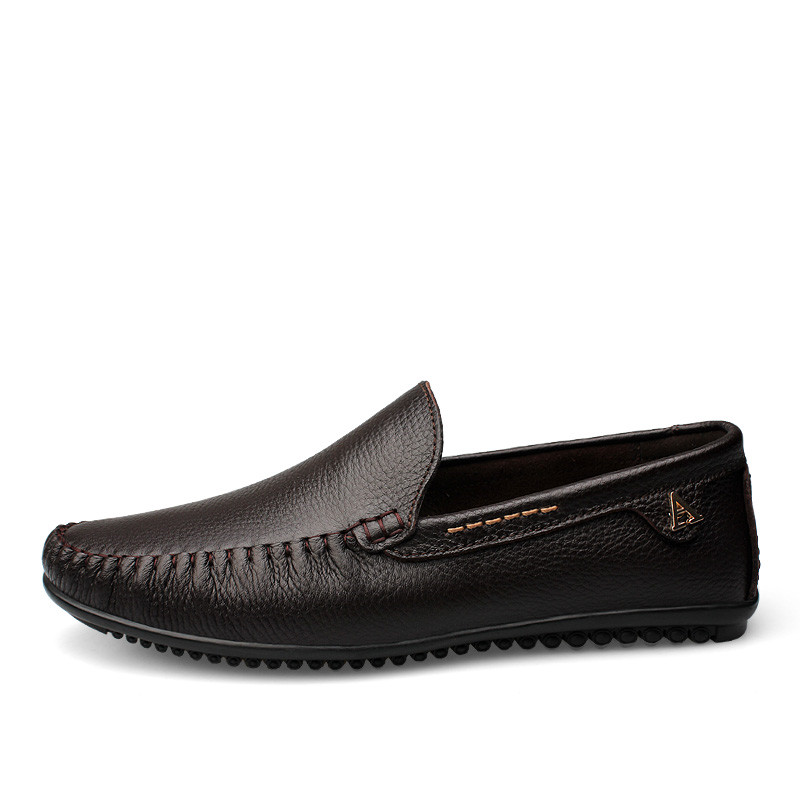 Bole Uomo Leather Shoes New Handmade Moccasins Genuine Leather Design Uomo Loafers Design Leather b715b6