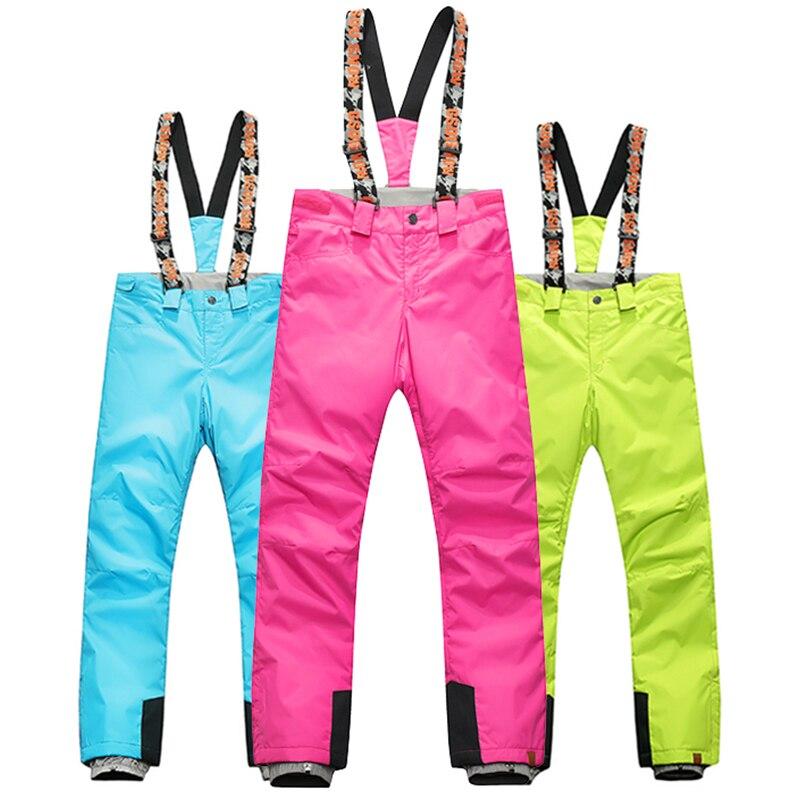 Gsou pantalon de ski de neige nouveau plein air coupe-vent imperméable respirant hiver pantalon de ski snowboard pantalon femmes