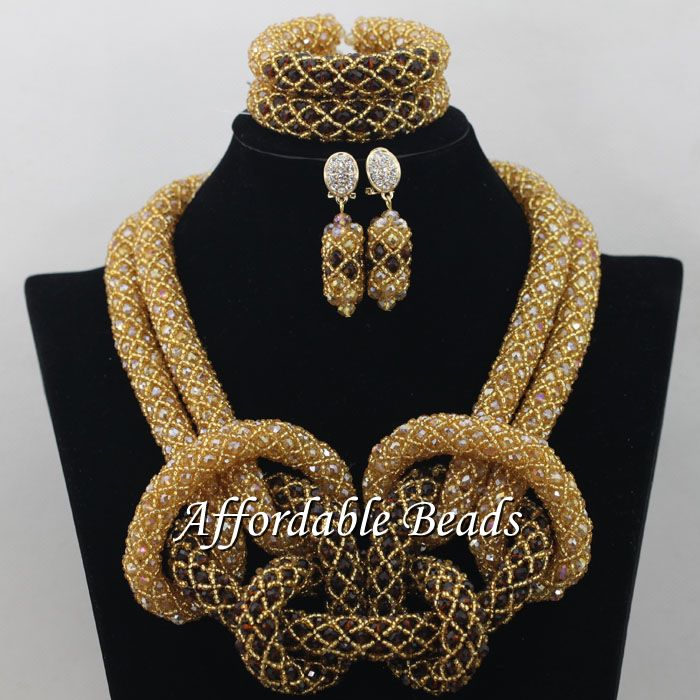 Hot African Costume Jewelry Set Popular Wedding Beads Set Handmade Item Wholesale Free Shipping NCD032 luxury african dubai jewelry sets hot wedding beads set handmade item wholesale free shipping ncd022