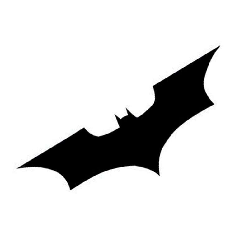 Wholesale 5pcs,10pcs,15*5CM Batman Bat Logo Reflective Car Stickers Personalized Car Stickers Cover Scratches Black Silver 14 4 15 1cm goose hunting hunter personalized car reflective car stickers black silver c7 0063