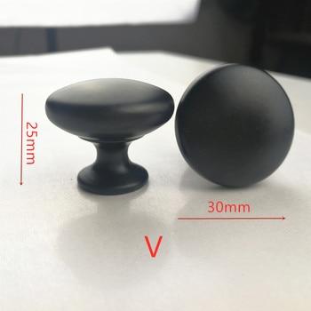 Diameter 30mm 50pcs/lot black Knobs Cabinet Hardware Pull Handle free shipping-N