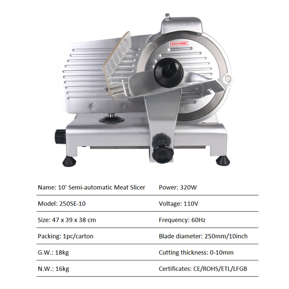 ITOP 10 quot Blade Commercial Electric Frozen Meat Slicers Deli Meat Cheese Food Slicer Premium Quality 110V 220V Meat Cutter in Food Processors from Home Appliances