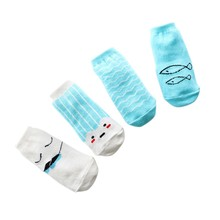 Cartoon Print Cute Kids Leg Warmers Soft Cotton Blend Newborn Sock Hot Sale 4Pairs Baby Boys Girls Socks New