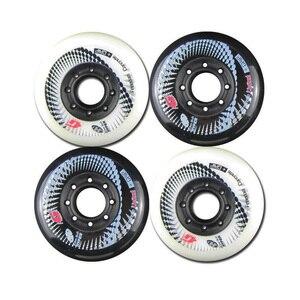 Image 4 - 80ミリメートル84Aローラーインラインスケートハイパー + gスラロームスライドスケート子供のための車輪大人patinsのためのスーツセバpowerslide靴LZ36