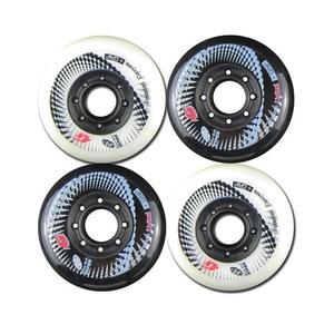 Image 4 - 80mm 84A Rollers for Inline Skates Hyper +G Slalom Slide Skates Wheels for Kids Adult Patins Suit for SEBA Powerslide Shoes LZ36