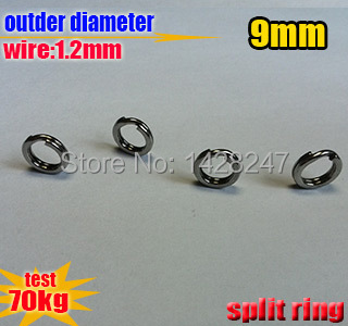 fishing lure with split ring Liu Guangwire 1 2mm outside diameter 9mm Quantity 500pcsThe best material