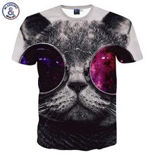 Cat with sunglasses 3D t-shirt