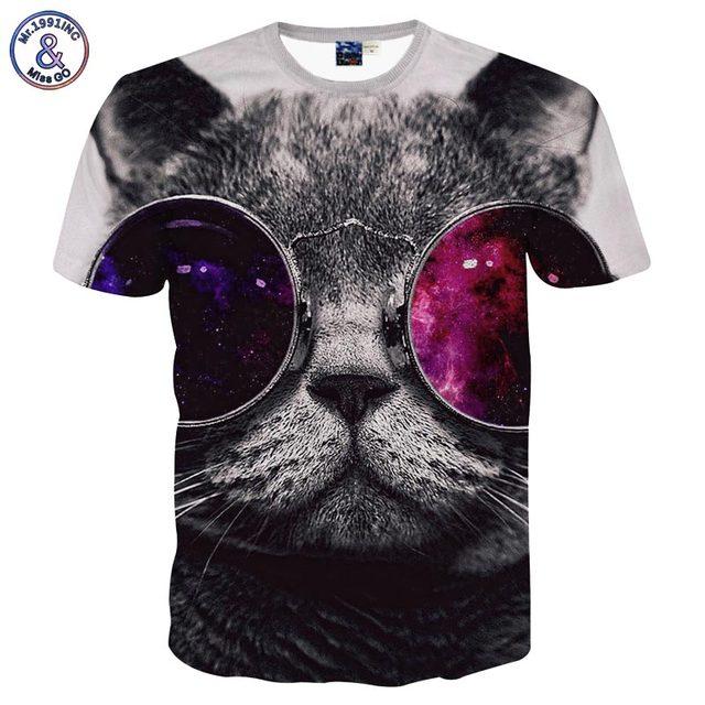 Cat with sunglasses 3D t-shirt