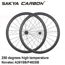 700C 250 מעלות פחמן גלגלי 38mm 50mm 60mm 88mm צינורי נימוק מכריע כביש אופני פחמן גלגלים עם novatec 291 482 רכזת
