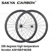 700C 250 gradi ruote in carbonio 38 millimetri 50 millimetri 60 millimetri 88 millimetri tubolare graffatrice della bici della Strada ruote in carbonio con novatec 291 hub 482