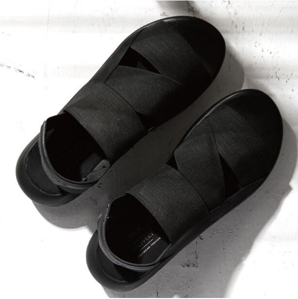 Hot Summer 2018 Men's Sandals Outdoor Leisure Gladiators Rome Style Black Breathble Beach Shoes