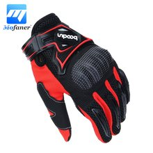 Mofaner One Pair Motocross Gloves PVC Fashion Motorcycle Racing Full Finger Gloves Protective Glove 3-Colors