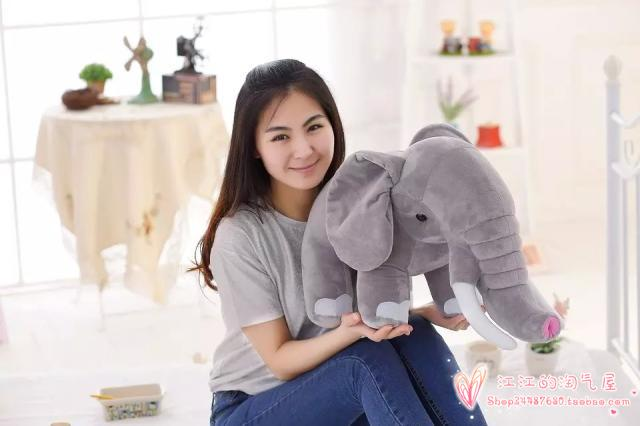 Grand 68 cm jouet gris foncé éléphant en peluche doux oreiller, cadeau d'anniversaire h856