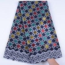 Kalume mais recente swiss africano algodão tecido de renda alta qualidade swiss voile rendas na suíça com pedras para o vestido costura 1671