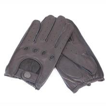 The New Sheepskin All Seasons Gloves Men Driving  Anti-Skid Full Finger Imitation Deerskin M045W-3