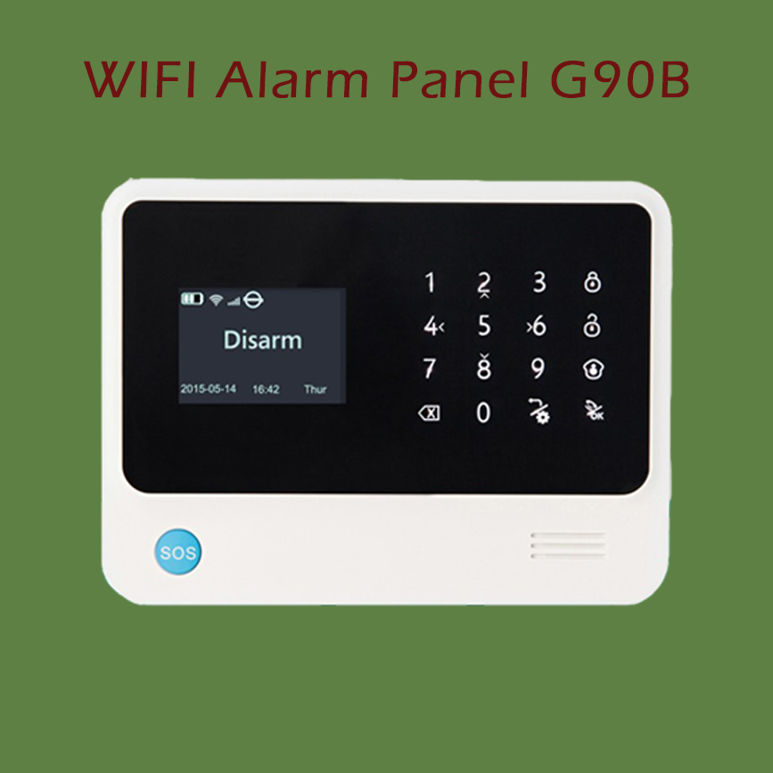 Wifi GSM Alarm Panel Control Unit White+Black Color, Free Shipping ...