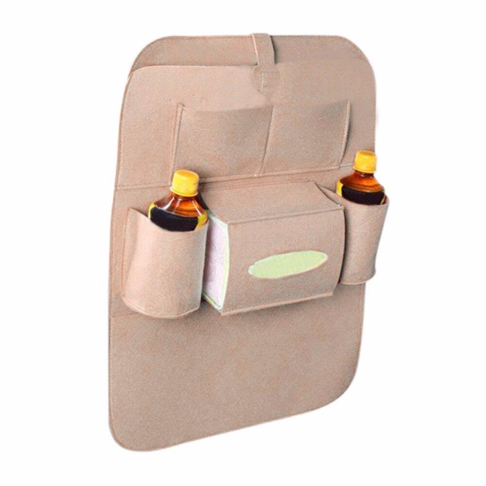 Car Use Seat Back Organizer Storage Bag Drink Food Multifunction Organizador Storage Bags Non-Woven Fabric Eco-Friendly