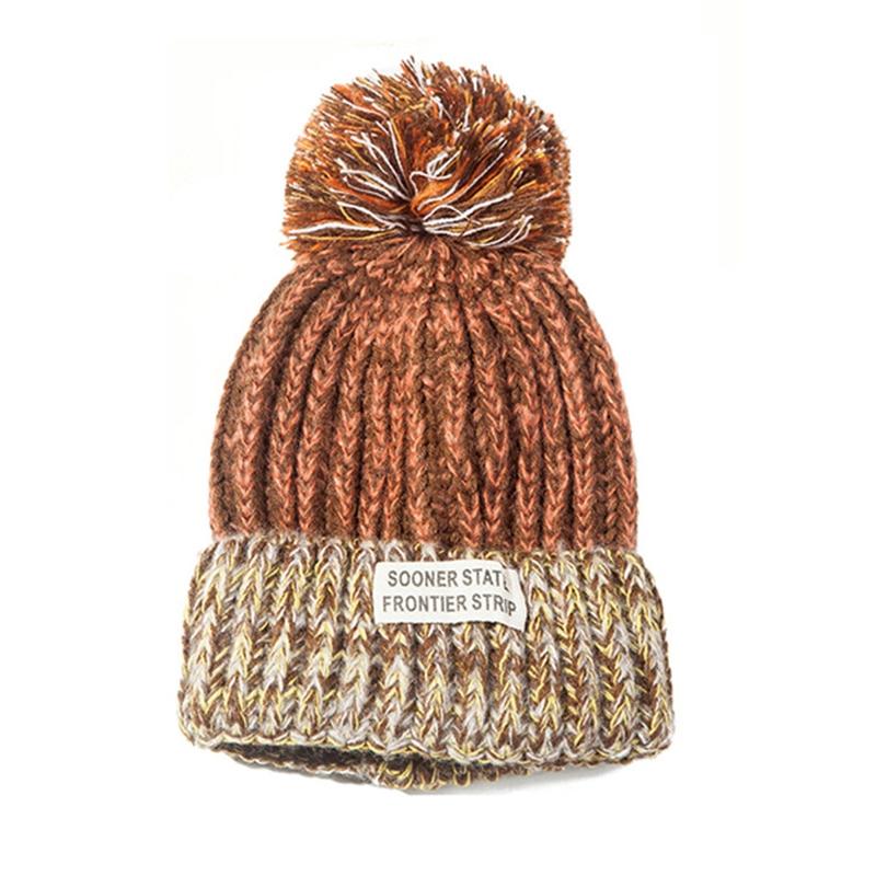 Fashion Women Winter Hat For Women   Skullies     Beanies   Warm Knitted Hat Female Cotton Winter Cap Brand Women   Beanie   Hat Wholesale