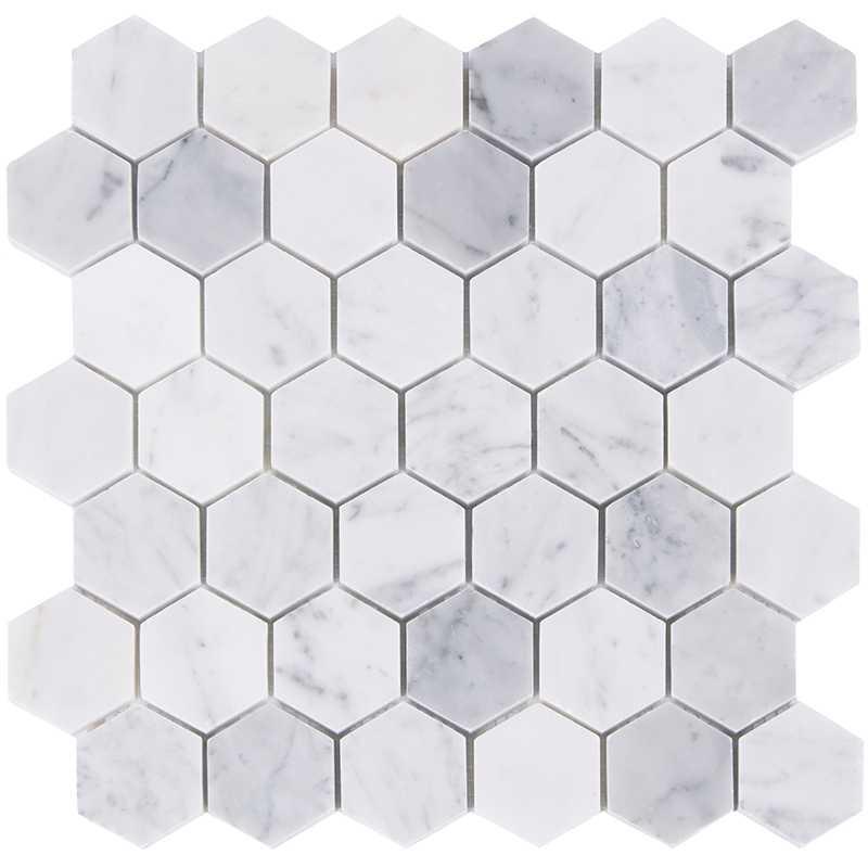 home improvement hexagon carrara marble stone tiles kitchen backsplash bathroom shower wall floor decor free shipping lsmbh08
