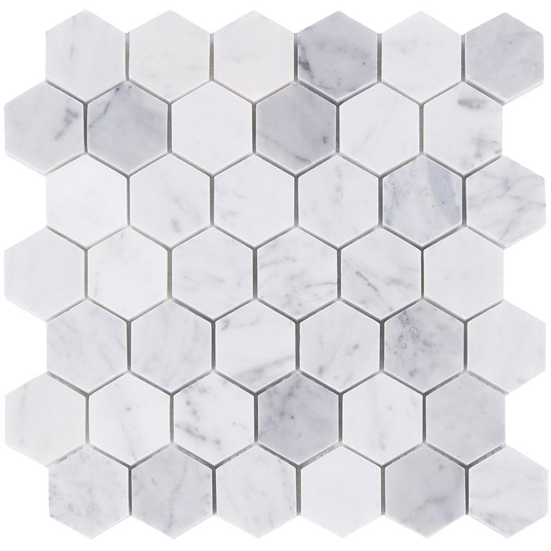 Home Improvement Hexagon Carrara Marble