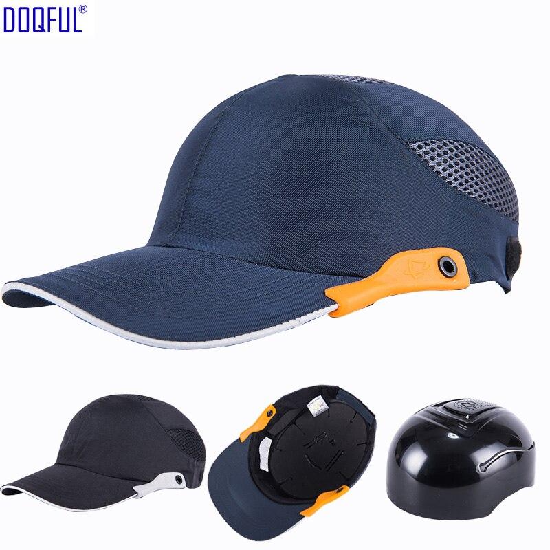 Atmungsaktiv Arbeit Schutzhelm Bump Cap Kopf Schutz Hut Sicherheit Anti-auswirkungen Leichte Baseball Fahrer Sonnencreme Schutzhülle