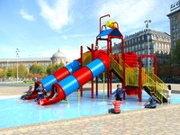 summer play event amusement water playground slide,fun water games for park