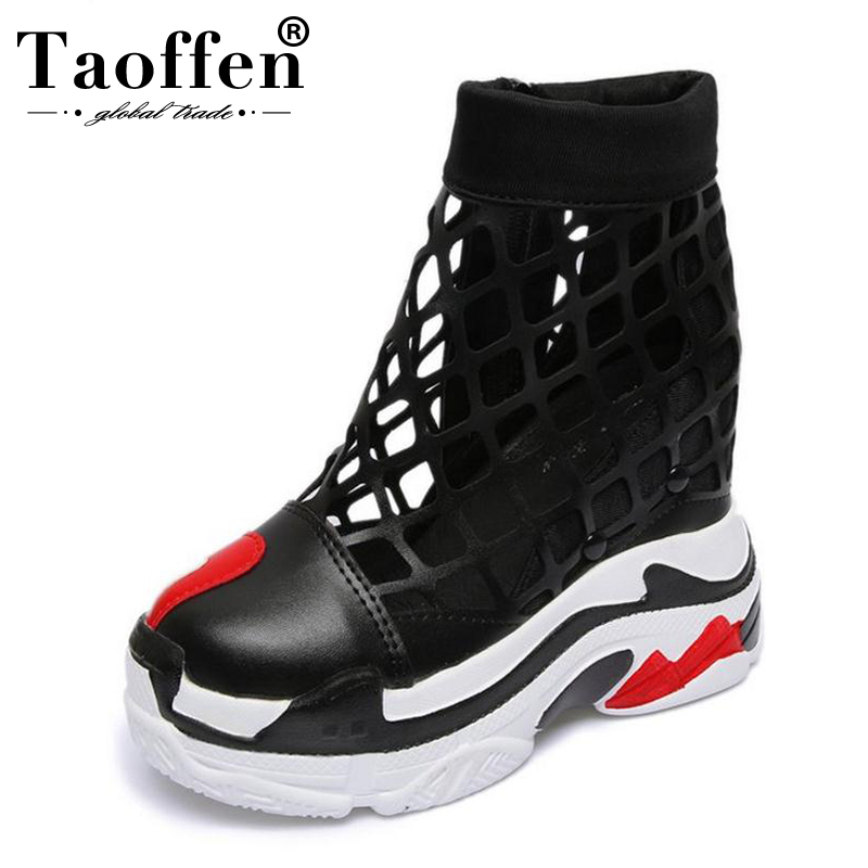 Taoffen 2019 New Style Women High Heel Sandals Fashion Casual Summer Shoes Women Daily Street Lady Office Footwear Size 35-39Taoffen 2019 New Style Women High Heel Sandals Fashion Casual Summer Shoes Women Daily Street Lady Office Footwear Size 35-39