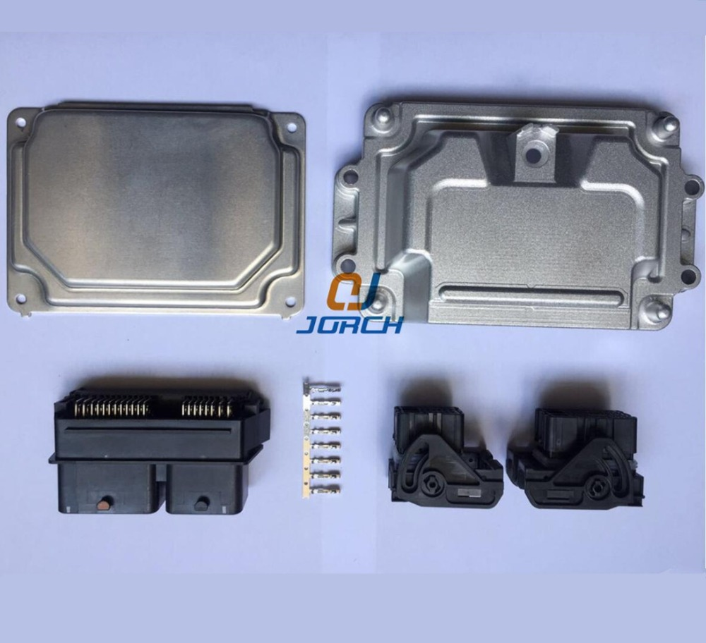 все цены на 1set 80pin ECU Aluminum Enclosure Box with Molex 32/48 pin molex PCB male female ECU automotive connector онлайн