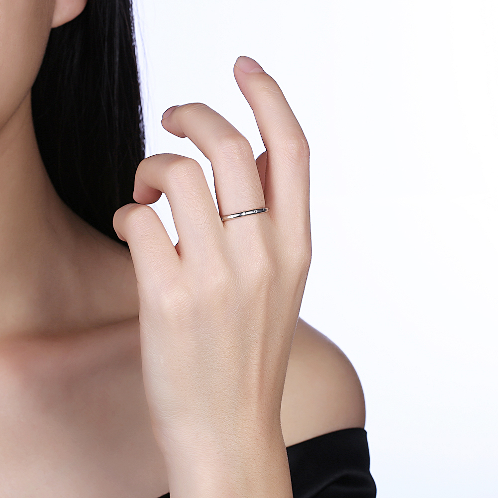Mothers day gift INALIS Original Design 925 Sterling Silver Female Rings Round Crystal Fashion Jewelry Gift for Woman Girl Gift
