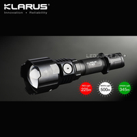 Original KLARUS FH10 BAC CREE XP L HI V3 LED Adjustable Beam Long Range Zoom Flashlight with 2600mAh Battery and Charger