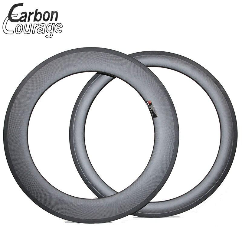 Jante de vélo de route 60mm avant 88mm arrière jantes en carbone 700C jantes tubulaires en carbone jantes en carbone 16-32 H Surface de frein en basalte