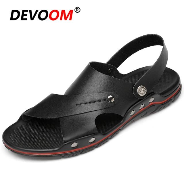 Véritable cuir Sandalia Playa natif chaussures grande taille 38-48 sandale Homme sandales hommes Shose sandale Homme Ete 2019 chaussures dété hommes