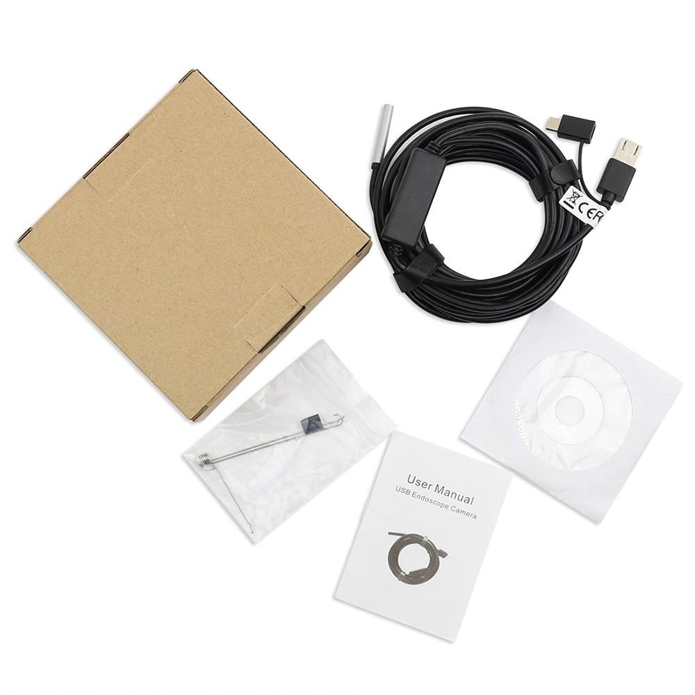 3-in-1 Usb Typ-c Inspektion Endoskop Kamera 5,5mm Eingebaute 6 Einstellbare Led-leuchten Mit 20 M Kabel Ip67 Wasserdicht GroßE Vielfalt Messung Und Analyse Instrumente