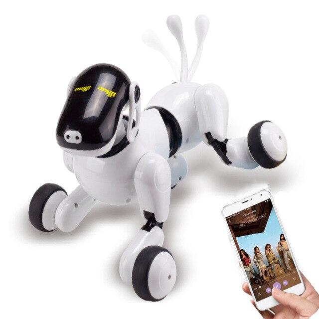 2019 Commandes Vocales APP Contrôle Robot Jouet Pour Chien Électronique Pet Drôle Interactif Sans Fil Télécommande Chiot Intelligent RC Robot Chien