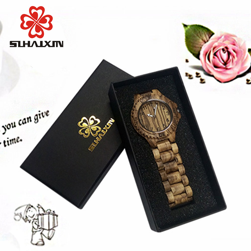 SIHAIXIN High-end fashion high-quality paper rectangular boxes for Watches as gift box high grade red leather wood fashion printting watches boxes