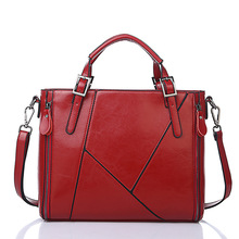 hot deal buy onefull versatile patent leather shoulder bag women zipper patchwork messenger bags casual business slit soft  shoulder bags