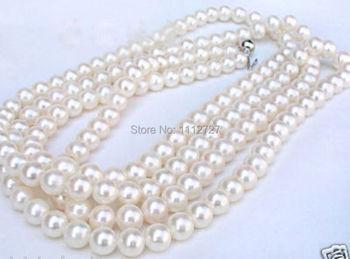 54ee808c1043 Nueva moda de 5-6mm blanco AAA mar collar de perlas naturales de moda de  piedra de joyería de diseño 54