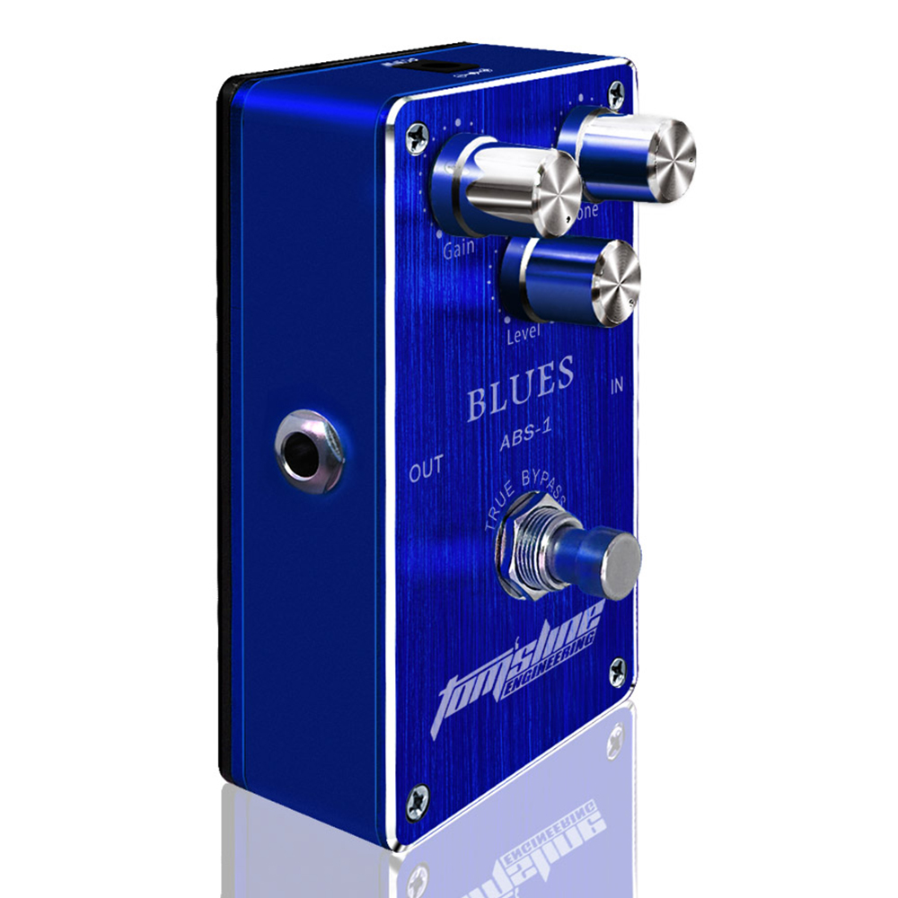 Tomsline ABS-1 Blues Premium Analogue Electric Pedal True Bypass Guitar Effect 3 Adjustable Knobs AROMA aroma adr 3 dumbler amp simulator guitar effect pedal mini single pedals with true bypass aluminium alloy guitar accessories