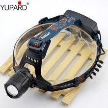 YUPARD USB Headlamp XM-L2 LED T6 LED Headlamp  headlight high power power bank output USB charging rechargeable 18650 batteries