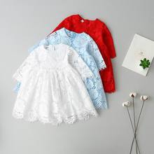 2017 Spring Summer New Girl Dress Lace Princess Half Sleeve Dress Children Clothing 313599