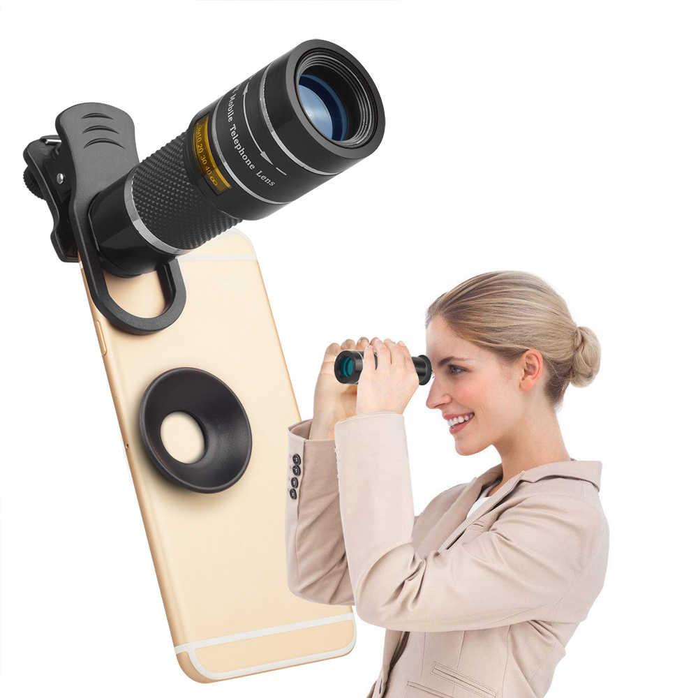Apexel Máy Ảnh Điện Thoại Di Động Ống Kính 20X Zoom Kính Thiên Văn Một Mắt Ống Kính Với Chân Máy & Bluetooth Cho IPhone7 Samsung Dành Cho Thể Thao Buổi Hòa Nhạc