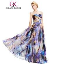 62b177b88606 Arcobaleno Prom Dress 2018 Fashion Grazia Karin Marca Donne Eleganti  vestiti Lunghi Da Promenade Chiffon Galajurken Bordare Ombr..