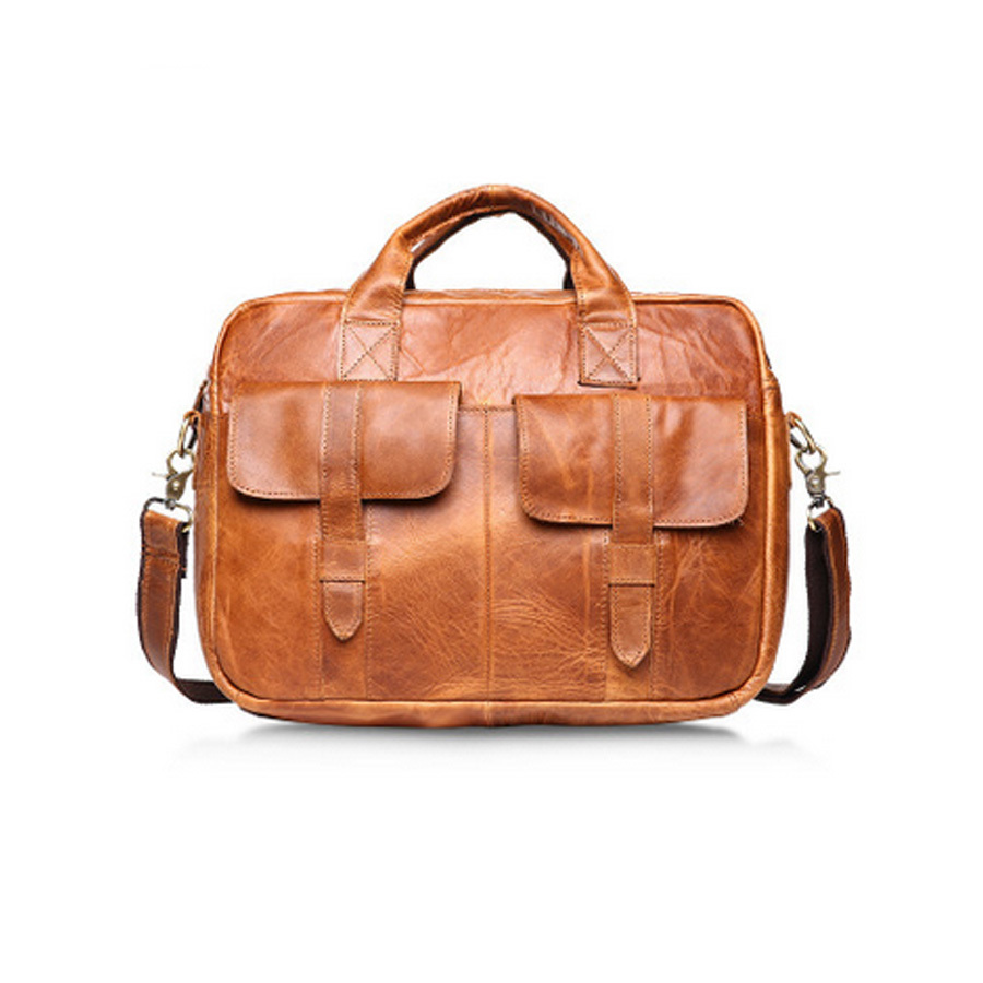 Здесь можно купить   Fashion genuine leather man Briefcase handbags cowhide leather crossbody bag men vintage  messenger bags men gift bag B81  Камера и Сумки
