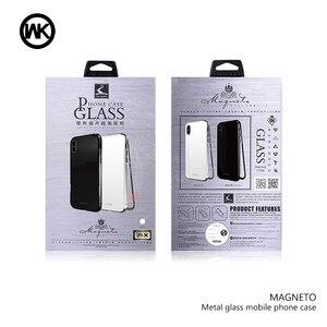Image 5 - WK Magnetische Adsorptie Case voor iPhone 7 7 p Luxe Magneet Metalen Aluminium Telefoon Gehard Glas Cover voor iPhone 8,8 p X