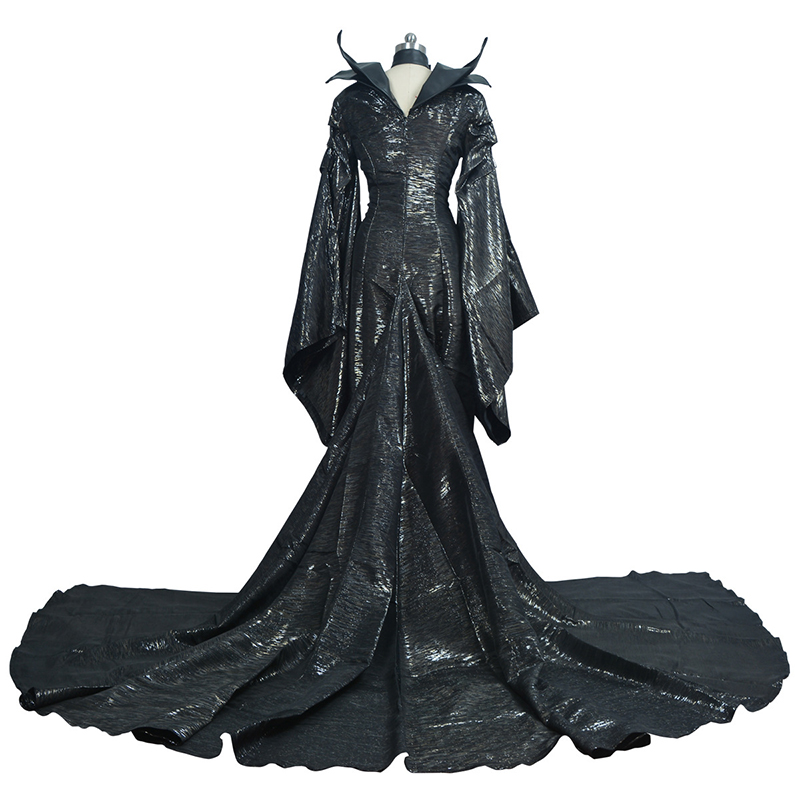 Cosplay Costumes Dress Dark Witch Maleficent Adult Women Halloween Party Cosplay Costume Maleficent Gift Drop Ship