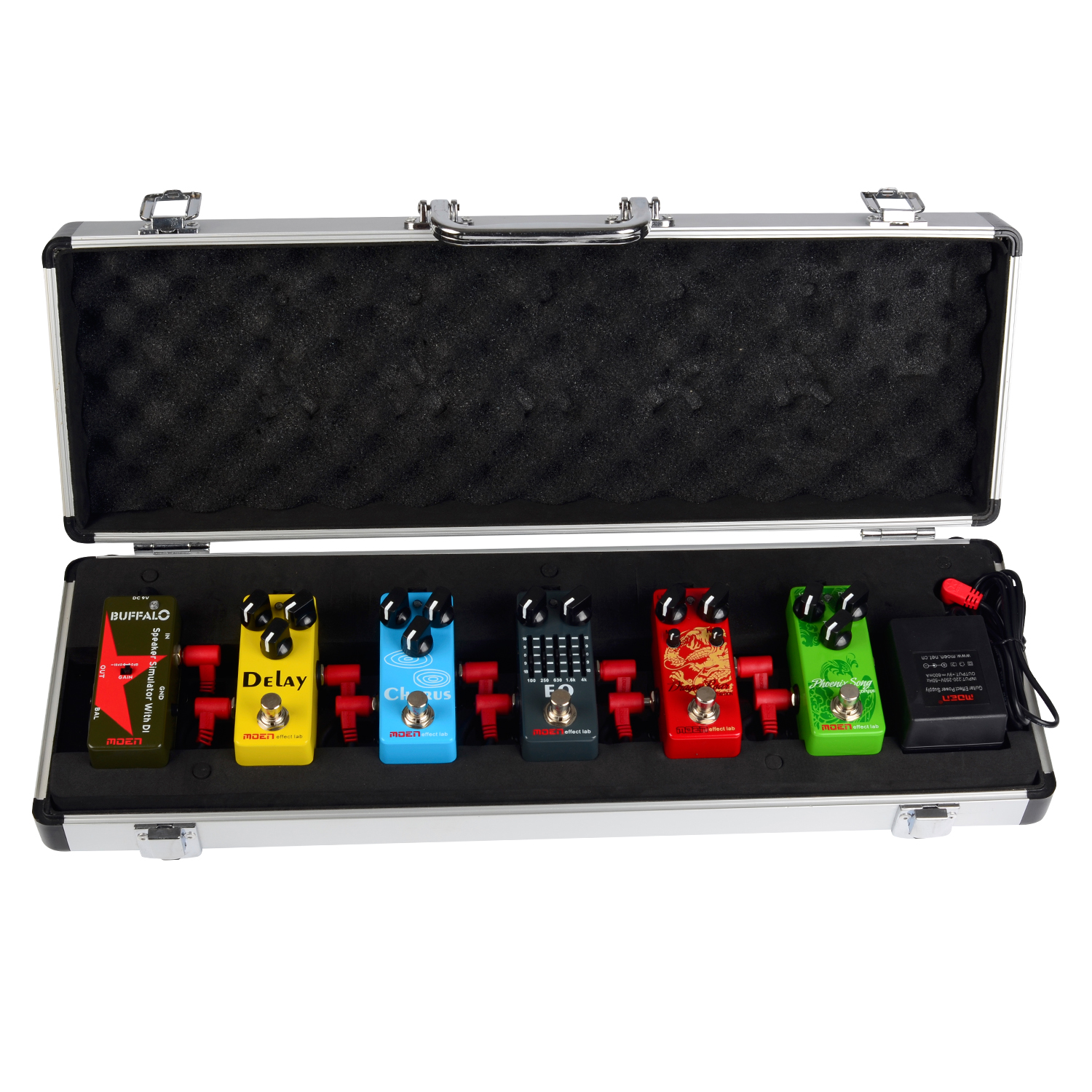 Moen Mini Set 6pcs effects pedal Overdrive Distrotion Equalizer Chrose Delay DI BOX Containing high quality mini overdrive pedal