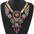 Statement Necklace 2016 big Brand Fashion Women Vintage Maxi Choker Crystal Rhinestone Necklaces & pendants jewelry accessories