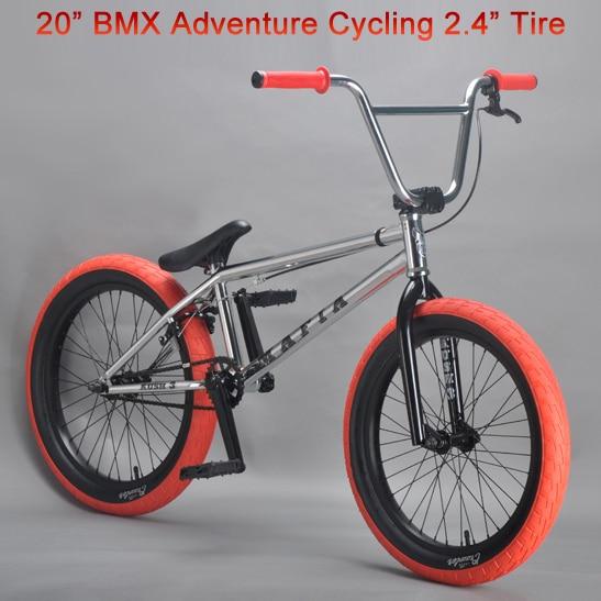Excelli BXM Adventure Cycling Mini Bicycle 20 Bike Bicicleta BMX 24 Width Tire Show 205 TT Steel Frame