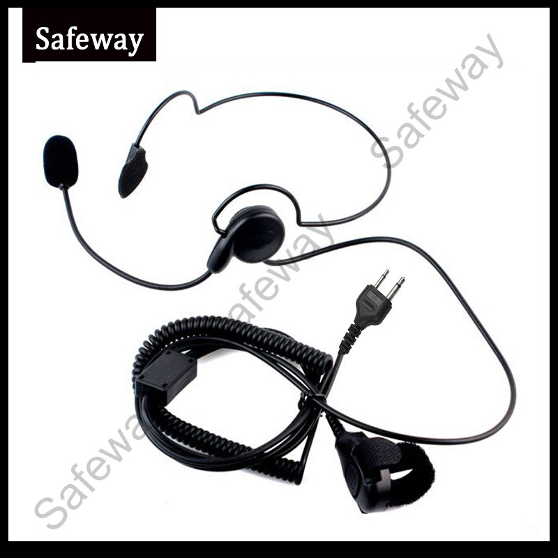 5pcs/lot Two Way Radio Light Weight Headset For ICOM With Boom Mic And PPT For IC-V8, IC-V82, IC-U82, IC-V85